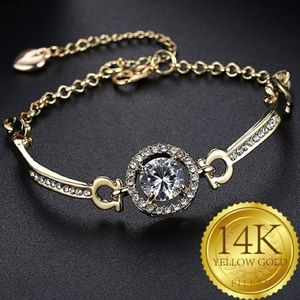 Gold Filled Halo Bracelet